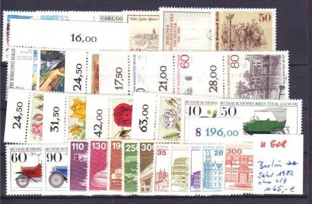 Berlin  Jahr 1982 **  (u508  ) siehe scan