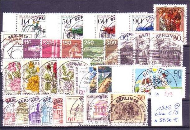 Berlin  Jahr 1982  o  (u559 ) siehe scan
