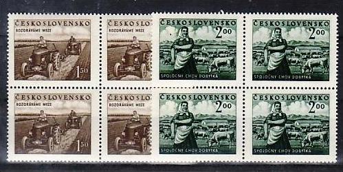 Ceskoslovensko Nr. 4x 655-6    ** (v5936  ) siehe scan