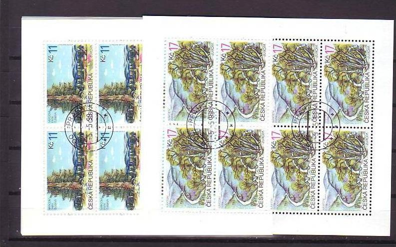 Ceska Republika Block-215-16  o-Ersttag /224,-Kc Postpreis (oo240 )
