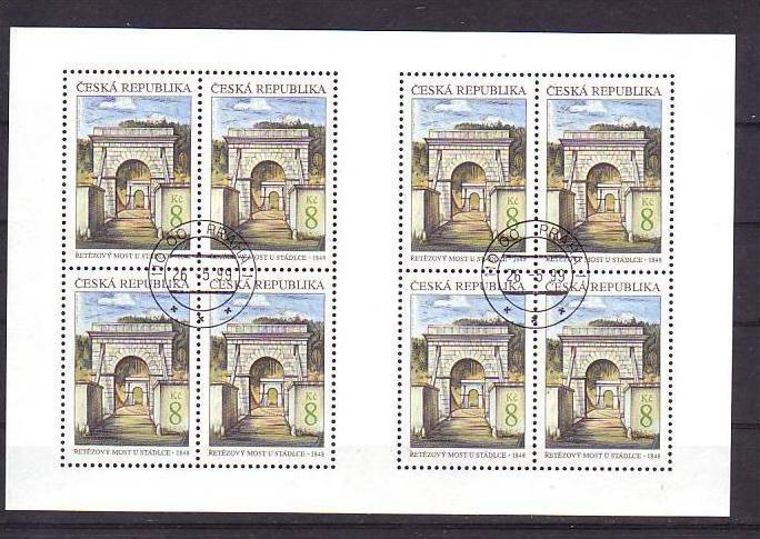 Ceska Republika Block-218-19  o-Ersttag /152,-Kc Postpreis (oo239 )