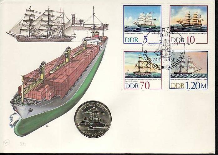 DDR Numis Brief  Schiffe 1988  ( m8136 ) siehe scan