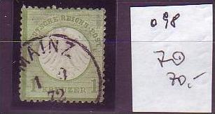 D-Reich  Nr. 7  o  (o 98   ) siehe scan