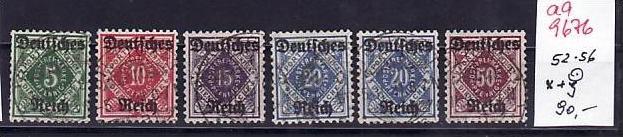 D-Reich Dienst Nr. D 52-56 x+y   o   ( aa9676 ) siehe scan