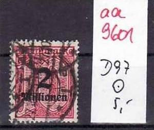 D-Reich Dienst Nr. D 97   o   ( aa9601 ) siehe scan