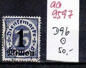 D-Reich Dienst Nr. D 96   o   ( aa9597 ) siehe scan