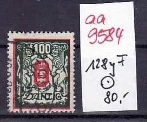 Danzig Nr.128 yF   o ( aa9584 ) siehe scan