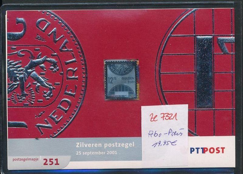 NL.-Souvenier Blatt mit  Silber Marke zu 12,75 Gulden  unter ABO Preis !! **   (ze7321 ) siehe Bild