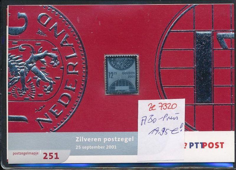 NL.-Souvenier Blatt mit  Silber Marke zu 12,75 Gulden  unter ABO Preis !! **   (ze7320 ) siehe Bild