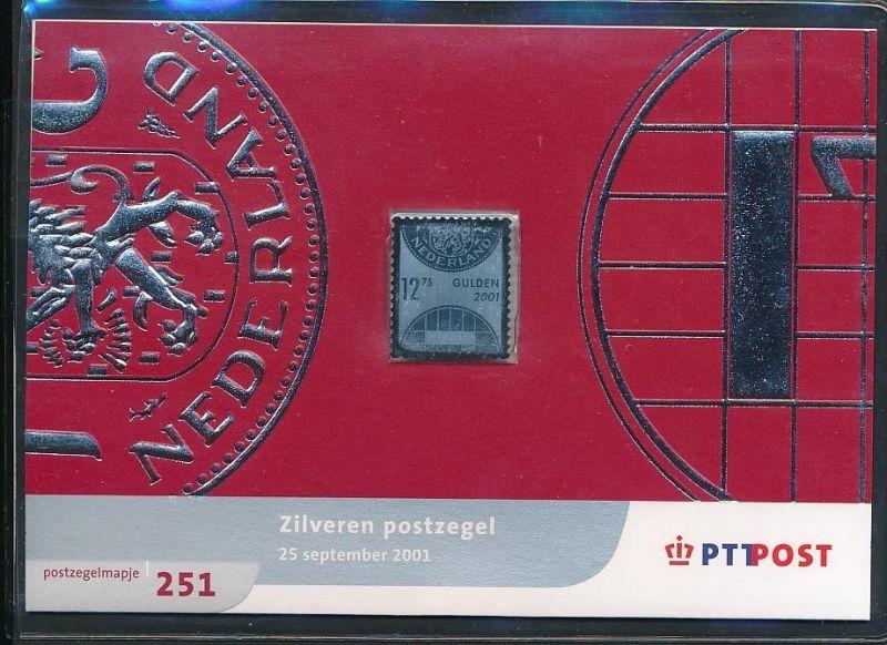 NL.-Souvenier Blatt mit  Silber Marke zu 12,75 Gulden  unter ABO Preis !! **   (ze7319 ) siehe Bild