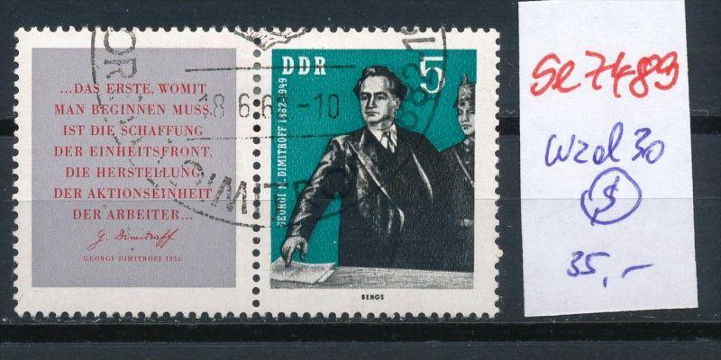 DDR   Nr. wzd  30  o   (se7489 ) siehe Bild