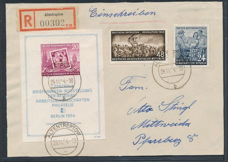 DDR Block 10 o  -Briefvorderseite  (t9249 ) siehe Bild