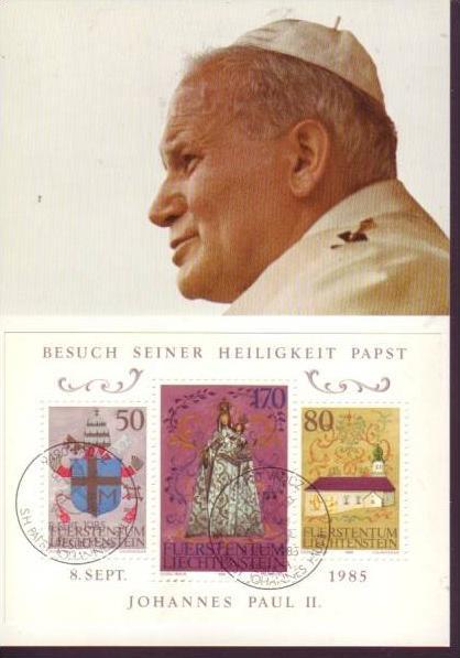 Papst Karte 1985 schönes Teil(dc586) siehe scan