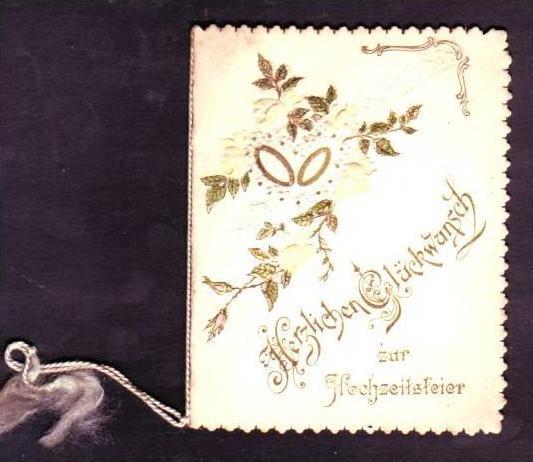 Alte Klappkarte (da152)kleines Kunstwerk aus Papier