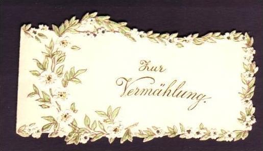 Alte Klappkarte (da147)kleines Kunstwerk aus Papier