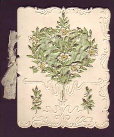 Alte Klappkarte (da153)kleines Kunstwerk aus Papier