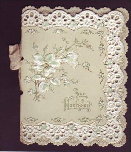 Alte Klappkarte (da149)kleines Kunstwerk aus Papier
