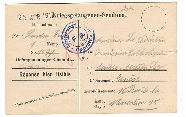 Gefangenen Post Lager Chemnitz selten !! (805)