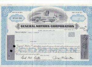 Aktie General Motors (bg136) siehe Bild