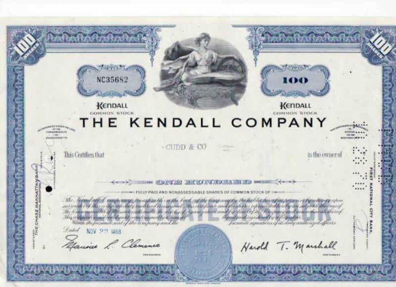 Aktie Kendall company (bg137) siehe Bild