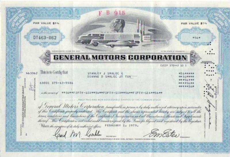 Aktie General Motors (bg138) siehe Bild