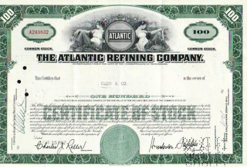 Aktie Atlantic Refining (bg139) siehe Bild