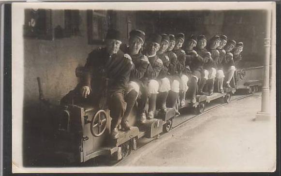 PK  unter Tage Salzbergwerk zu Berchtesgaden 1935 (z2450)