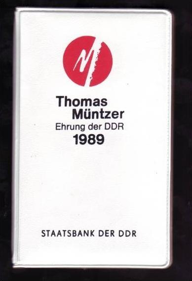 DDR 1989 Thomas Müntzer Ehrung mit 2 X5 Mark Sondermünze top (x191)
