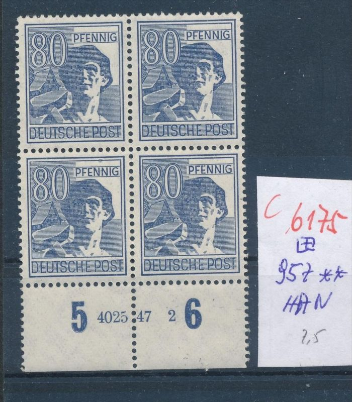 Zonen  Nr. 957 HAN   ** (c  6175 ) -siehe Bild