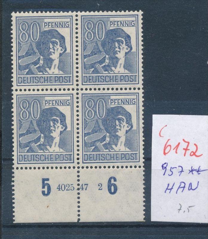 Zonen  Nr. 957 HAN   ** (c  6172 ) -siehe Bild