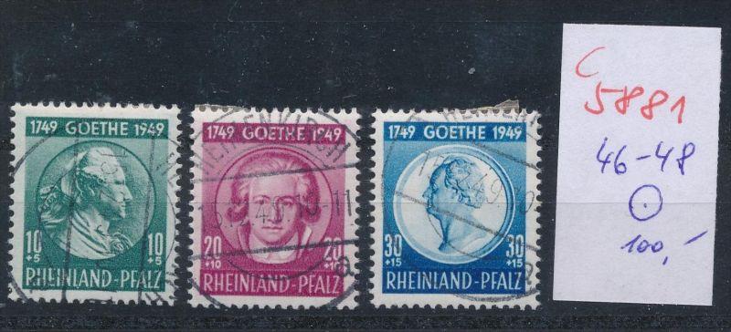 Rheinland Pfalz Nr. 46-8    o  (c  5881 ) -siehe Bild