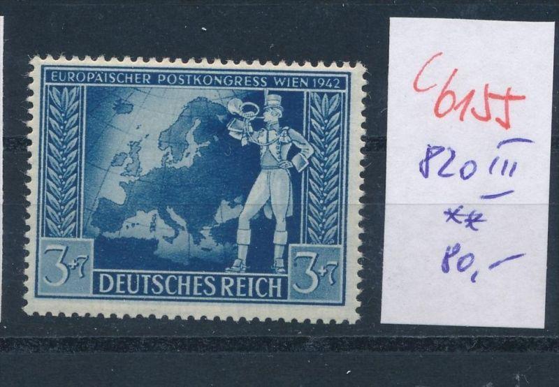 D.-Reich   Nr.  820  III  **    (c  6155 ) -siehe Bild
