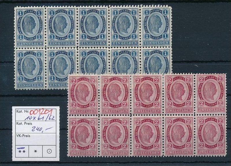 Österreich 10x61-62  **  (oo1201   ) -siehe Bild
