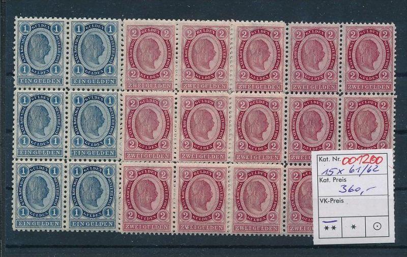 Österreich 15  x  61-62  **  (oo1200   ) -siehe Bild