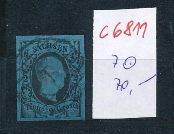 Sachsen Nr. 7 o   (c6811 ) siehe scan