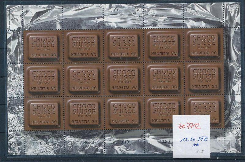 Schweiz  Block  Schokolade  **  (ze7712  ) siehe scan