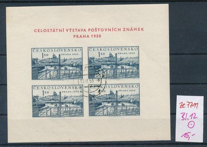 Tschechen Block  12 o  (ze7711  ) siehe scan