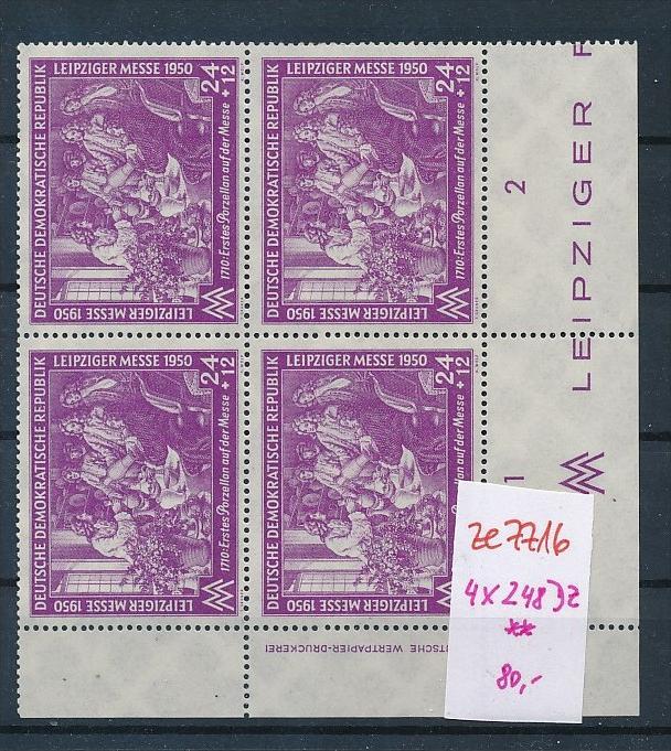 DDR  Nr. 4x 248 DZ  **   (ze7716  ) siehe scan