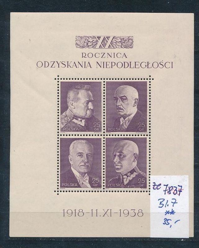 Polen    Block  7  **..(ze7837  ) siehe scan