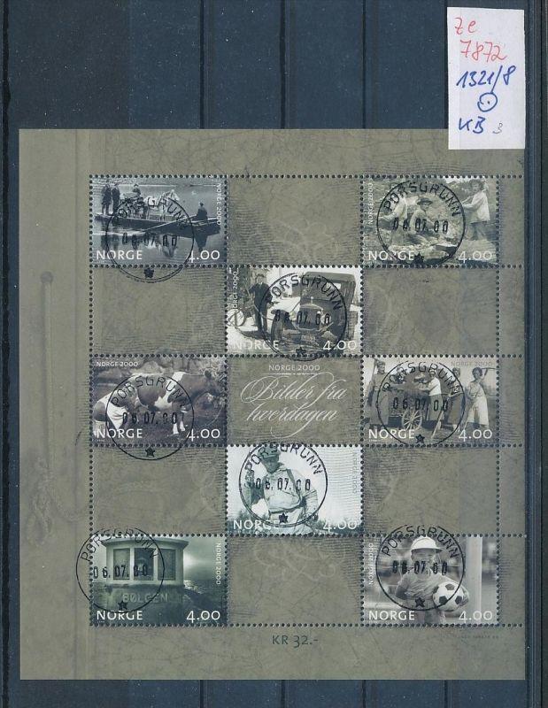 Norge Block  1321-8  o..( ze7872   ) siehe scan
