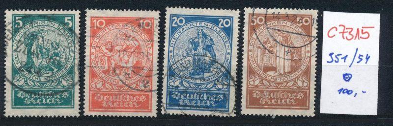 D.-Reich Nr. 351-4 o    (c7315  ) siehe scan