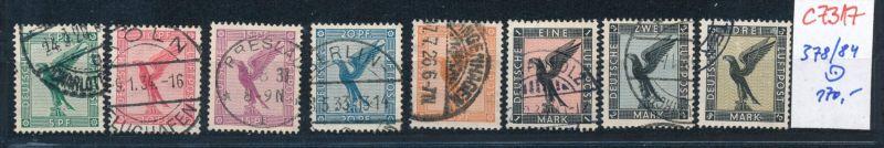 D.-Reich Nr. 378-84  o    (c7317  ) siehe scan