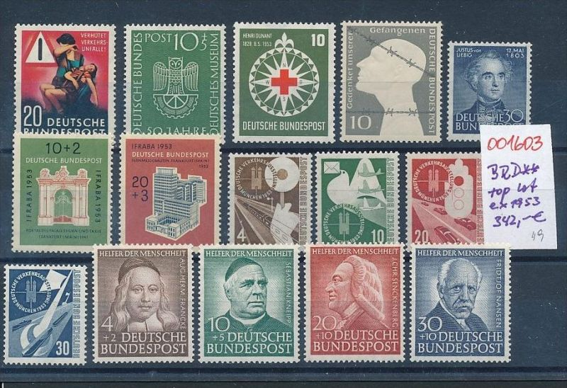 BRD Top-Lot aus 1953   **    (oo1603  ) siehe scan