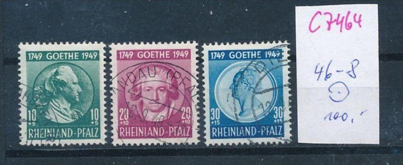 Rheinl.-Pfalz   Nr.  46-8  o  (c7464  ) siehe scan