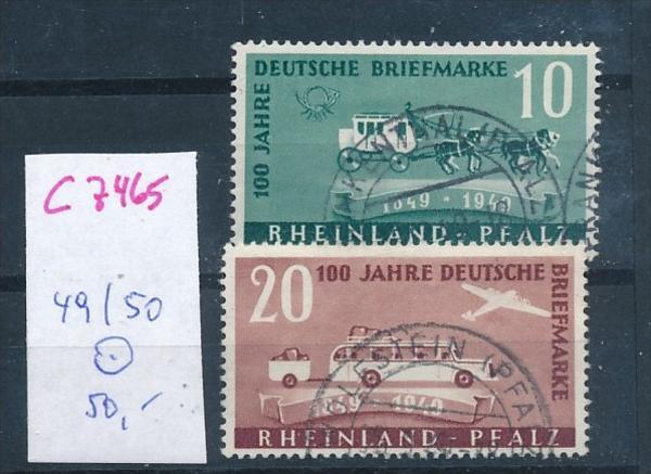 Rheinl.-Pfalz   Nr.  49-50  o  (c7465  ) siehe scan