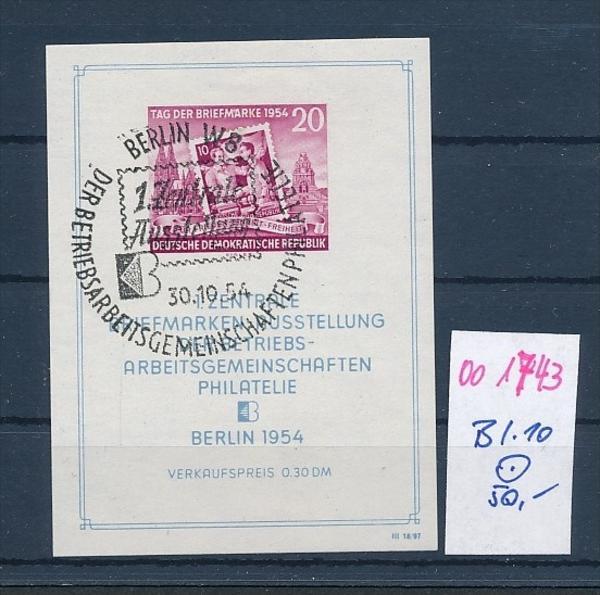 DDR Block  10  o  (oo1743  ) siehe scan