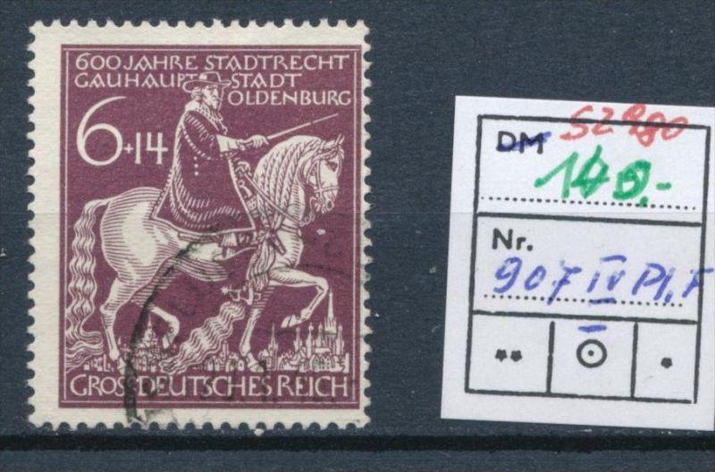 D-Reich  Nr.  907 IV   o    ( s2980 )