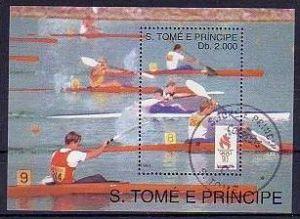 Olympia   Sao Tome Bl.309  o  (m1601 ) siehe scan