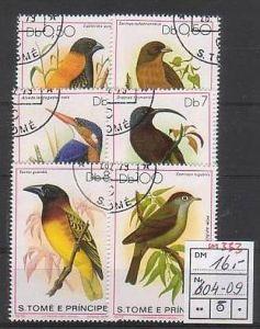 Vögel -Sao Tome  604-9 o  (m333 )  siehe scan