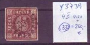 Bayern    Nr. 4 II  Stempel 332  o  (y3739  )